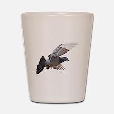 pigeon fly to love joy peace Shot Glass