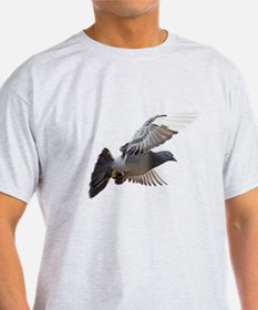 pigeon fly to love joy peace T-Shirt