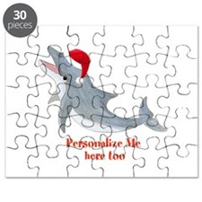 Personalized Christmas Dolphin Puzzle
