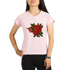 SPARKLING POINSETTIAS Performance Dry T-Shirt