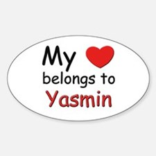 I love yasmin Oval Decal