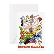 laundry goddess Greeting Card