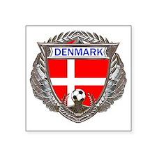 """Denmark Soccer bear Square Sticker 3"""" x 3"""""""