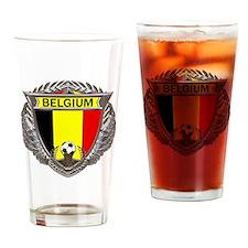 Belgium Soccer bear Drinking Glass