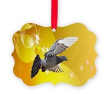 pigeon fly to love joy peace c Ornament