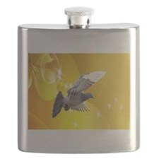 pigeon fly to love joy peace c Flask