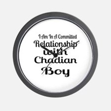 I Am In Relationship With Chadian Boy Wall Clock