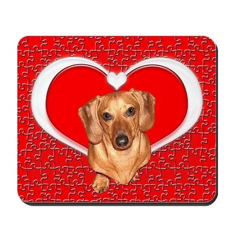 Sweetheart Dachshund Dog Mousepad