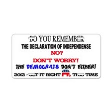 Dont Worry Aluminum License Plate