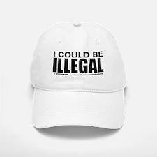 Icouldbe illegal BLK copy Baseball Baseball Cap