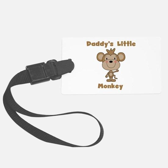 Daddy's Little Monkey Luggage Tag