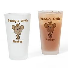 Daddy's Little Monkey Drinking Glass