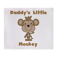 Daddy's Little Monkey Throw Blanket