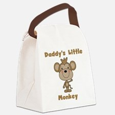 Daddy's Little Monkey Canvas Lunch Bag