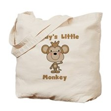 Daddy's Little Monkey Tote Bag