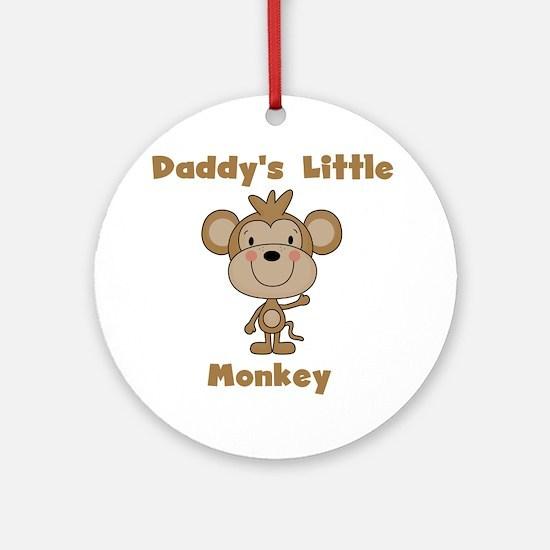 Daddy's Little Monkey Ornament (Round)