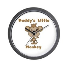 Daddy's Little Monkey Wall Clock
