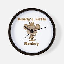 Daddy's Little Monkey Wall Clock