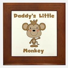 Daddy's Little Monkey Framed Tile