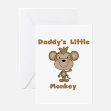 Daddy's Little Monkey Greeting Card