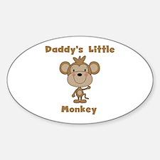 Daddy's Little Monkey Sticker (Oval)