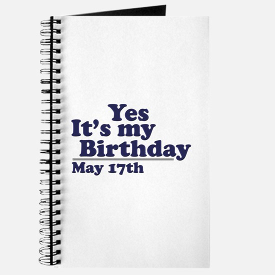 May 17 Birthday Journal