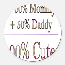 Infant and Toddler Round Car Magnet