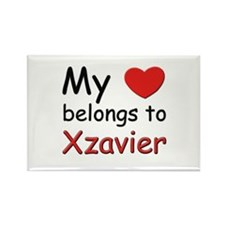 I love xzavier Rectangle Magnet