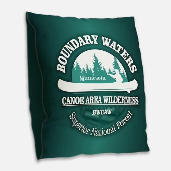 Boundary Waters Burlap Throw Pillow