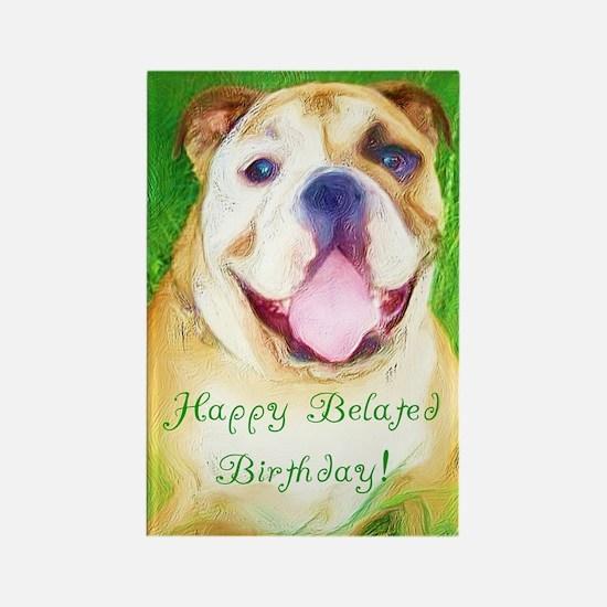Bulldog Birthday Rectangle Magnet