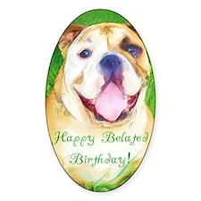 Bulldog Birthday Decal