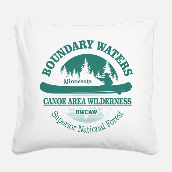 Boundary Waters Square Canvas Pillow