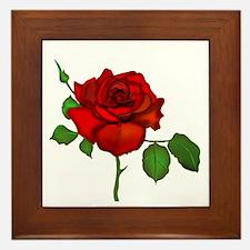 Rose Red Framed Tile