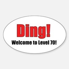 Welcome to Level 70 Oval Decal