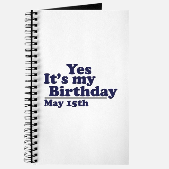 May 15 Birthday Journal