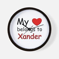 I love xander Wall Clock