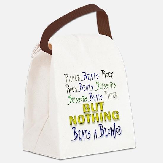 rock paper scissors blowjob Canvas Lunch Bag