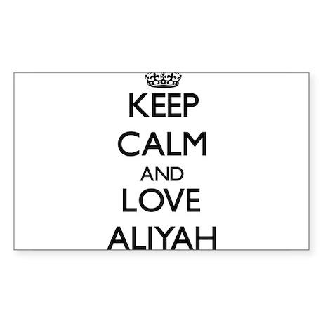 Keep Calm and Love Aliyah Sticker