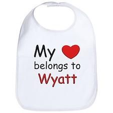 I love wyatt Bib