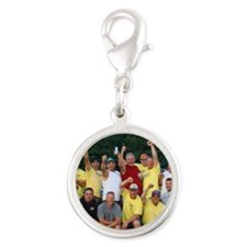 2-lbpicture Silver Round Charm