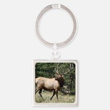 Elk Square Keychain