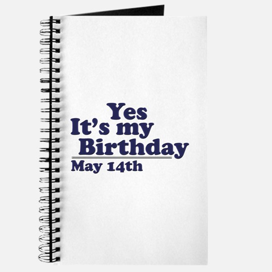 May 14 Birthday Journal