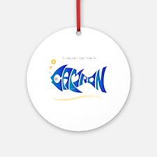Camron blue fish Ornament (Round)