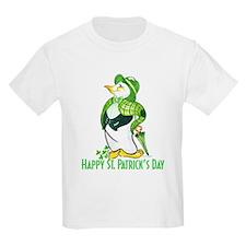 St. Patrick's Day Penguin Kids T-Shirt