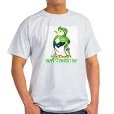 St. Patrick's Day Penguin Ash Grey T-Shirt