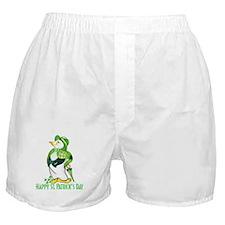 St. Patrick's Day Penguin Boxer Shorts