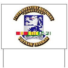 Army - 119th Infantry Regiment w SVC Ribbon Yard S