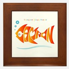 Camron orange fish (goldfish) Framed Tile