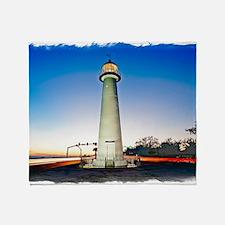 Biloxi Lighthouse Throw Blanket