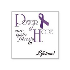 "Power-of-Hope-custom-name-l Square Sticker 3"" x 3"""